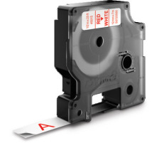 DYMO Schriftband D1 rot/weiss S0720550 12mm/7m Für DYMO-Geräte: 1000 Plus, 3500, 4500, 5500 und Pocket / LabelPoint 150, 200, 250, 300 und 350 / LabelWriter Duo / LabelManager 500TS, PnP, PnP Wireless, 280, 420P, 360D, 260P, 210D, 160, 350,