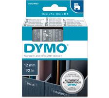 DYMO Schriftband D1 weiss/transp. S0720600 12mm/7m Für DYMO-Geräte: 1000 Plus, 3500, 4500, 5500 und Pocket / LabelPoint 150, 200, 250, 300 und 350 / LabelWriter Duo / LabelManager 500TS, PnP, PnP Wireless, 280, 420P, 360D, 260P, 210D, 160,