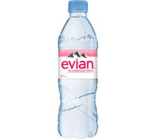 EVIAN Mineral o/Kohlensäure 50cl Pet 8228 6 Stück