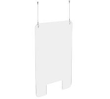 EXACOMPTA Hygienewand Exascreen 80158D Acrylglass m. Fenster 100x66cm