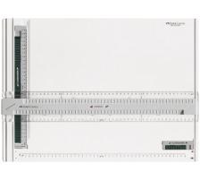 FABER-CA. Zeichenplatte A3 171273 Aus schlag- und bruchfestem Kunststoff, leicht und superstabil, doppelte Führungsnuten für leichtes Gleiten des Parallel-Lineals, Parallel-Lineal an jeder Stelle zu bedienen, mit Einhand-Doppelarretierung,