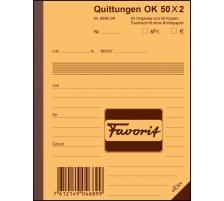 FAVORIT Quittungen D A6 9096 OK blau/weiss 50x2 Blatt