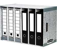 FELLOWES Ordner Box 970x485x25mm 01880EU grau/weiss