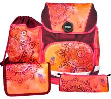 FUNKI Joy-Bag Set Mandala 6011.518 orange/dunkelrot 4-teilig