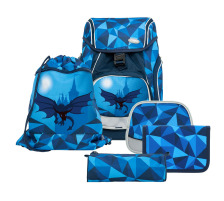 FUNKI Schulthek-Set Flexy-Bag 6040.610 Dragon World 5-teilig