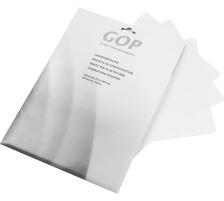 GOP Laminiertaschen A4 020503 80My 216x303mm glanz 25 Stück Hochqualitative Folientasche aus hochwertigem Polyester , mit abgerundeten Ecken , schützt Dokumente und Unterlagen vor Umwelteinflüssen , geeignet für alle Taschenlaminatoren., 80 Micron, A