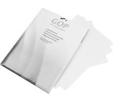 GOP Laminiertaschen A4 020506 125My 216x303mm glanz 25 Stück Hochqualitative Folientasche aus hochwertigem Polyester , mit abgerundeten Ecken , schützt Dokumente und Unterlagen vor Umwelteinflüssen , geeignet für alle Taschenlaminatoren., 125 Micron,
