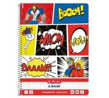 HERLITZ Spiralblock A4 50016501 Comic 80 Blatt kariert