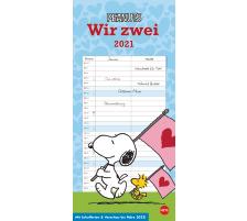 HEYE Planer für zwei Peanuts 840176036 DE,16 X 34,7cm,2021 Type Wandkalender, Classement Monatskalender, Thèmes Cartoon & Humor, Type Wandkalender, Dimensions