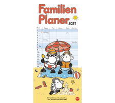 HEYE Familienplaner Sheepworld 840177026 DE,21 X 45cm,2021 Type Wandkalender, Classement Monatskalender, Thèmes Cartoon & Humor, Type Wandkalender, Dimensions
