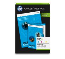 Pack HP 953XL CMJ  originales avec papier A4 (HP 1CC21AE)