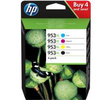 Pack HP 953XL CMJN originales (HP 3HZ52AE)