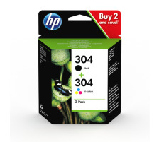 Pack 2 cartouches originales HP 304 Noir et Couleur (HP 3JB05AE)
