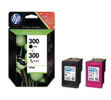 Pack 2 cartouches Originales HP 300 (HP CN637EE)