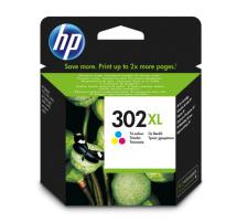 Cartouche d'encre HP 302XL 3 couleurs Originale (HP F6U67AE)