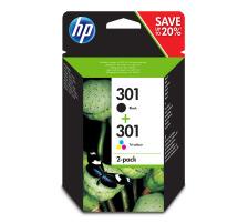Pack 2 cartouches Originales HP 301 (HP N9J72AE)