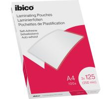 IBICO Laminiertasche A4 627325 glanz, 125my selbstkl. 100 Stk