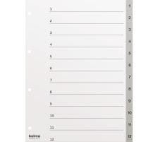 KOLMA Register PP grau A4 18.112.03 1-12, Kolmaflex