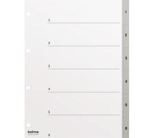 KOLMA Register PP grau A4 18.564.03 1-6, Kolmaflex
