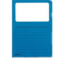 KOLMA Sichthülle VISA Script A4 59.660.05 blau, Fenster 10 Stk.