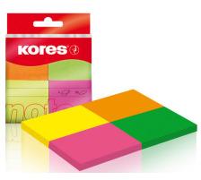 KORES PAGEMARKER 38x50mm N48450 neon 4-farbig/4x50 Blatt
