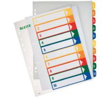 LEITZ Register PC-beschriftbar A4 12930000 1-10 mehrfarbig