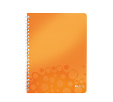 LEITZ Spiralbuch WOW PP A4 46380044 orange metallic 80 Blatt