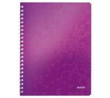 LEITZ Spiralbuch WOW PP A4 46380062 violett metallic 80 Blatt