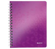 LEITZ Notizblock WOW PP A5 46410062 violett metallic kariert