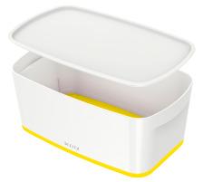 LEITZ MyBox Klein, mit Deckel 5lt 52291016 weiss/gelb
