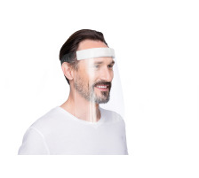 MAGNETOP. Gesichtsvisier rPET 25x32x75mm 1102501 weiss, transparent 5 Stück