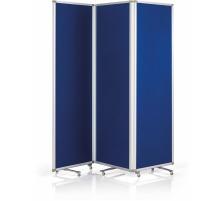 MAGNETOP. Präsentationswand 3-teilig 1105303 blau, faltbar 600x1800mm