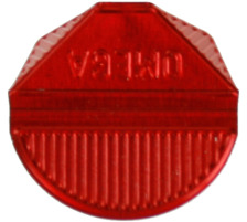 OMEGA Eckklammern 100/24 rot 100 Stk. Aluminium, farbig lackiert., Dispenser Nein, Grösse (Länge) 10.3cm, Anzahl (Stück) 100, Material Aluminium, Typ Eckenklammer, Farbe(Filter) rot