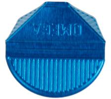 OMEGA Eckklammern 100/25 blau 100 Stk. Aluminium, farbig lackiert., Dispenser Nein, Grösse (Länge) 10.3cm, Anzahl (Stück) 100, Material Aluminium, Typ Eckenklammer, Farbe(Filter) blau