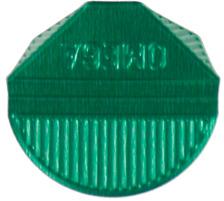 OMEGA Eckklammern 100/27 grün 100 Stk. Aluminium, farbig lackiert., Dispenser Nein, Grösse (Länge) 10.3cm, Anzahl (Stück) 100, Material Aluminium, Typ Eckenklammer, Farbe(Filter) grün