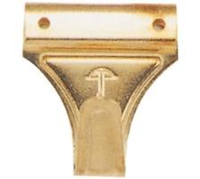 OMEGA Bilderhaken 134015550 für 3 Nägel Vermessingt, inkl. Nägel., Für 3 Nägel, Material Metall, mit Rand Nein, Typ Zubehör, Zubehör Typ Bildaufhänger, Farbe gold