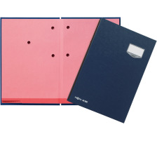 PAGNA Unterschriftsmappen DE LUXE A4 24202-02 blau 20 Fächer