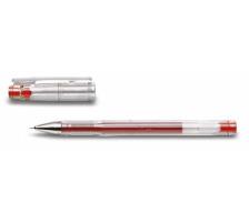 PILOT Gelschreiber G-TEC C4 0,4mm BL-GC4-R rot Schaft transparent mit Steckkapp , ultrafeine Schreibspitze 0,4 mm (ca. 1000 m) , Strichbreite 0,2 mm., Anwendungen: geeignet für Durchschläge und Schablonen, reprofähiger Strich für