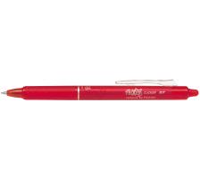 PILOT Frixion Clicker 0.7mm BLRT-FR7 rot, nachfüllbar, radierbar Mit einziehbarer Spitze , Klickindikator auf dem Schaft , Tinte ist ausradierbar , mit Radiergummi am Schaftende der sich nicht abnützt und keine Radier-Rückstände g