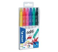 PILOT Frixion Colors SW-FC 6er Etui Faserstift mit thermosensitiver Tinte , ausradierbar , ideal zum zeichnen, ausmalen, unterstreichen und einkreisen , nicht für Kinder unter 3 Jahren geeignet., Faserstift mit thermosensitiver Tinte, Zubehö