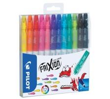 PILOT Frixion Colors SW-FC 12er Etui Faserstift mit thermosensitiver Tinte , ausradierbar , ideal zum zeichnen, ausmalen, unterstreichen und einkreisen , nicht für Kinder unter 3 Jahren geeignet., Faserstift mit thermosensitiver Tinte, Zubeh&oum