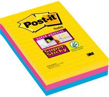 POST-IT SuperSticky Rio 152x101mm 4690SS3RI 3-farbig, liniert 3x90 Blatt