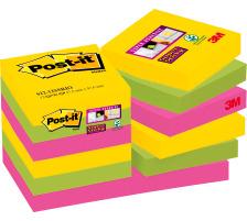 POST-IT Super Sticky Not. 47.6x47.6mm 622-12SS- Rio, 90 Blatt 12 Stück
