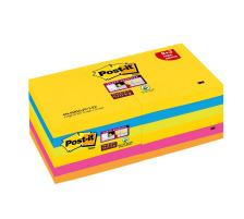POST-IT Super Sticky Notes 76x76mm 654SR9+3 Rio 5 Farben 12 x 90 Blatt