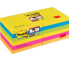 POST-IT Block Super Sticky Rio 6556SSRIO 5-farbig, 6x90 Blatt 127x76mm