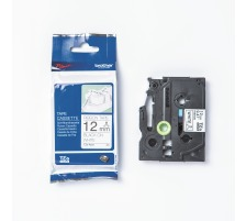PTOUCH Textilbandkassette schw./weiss TZe-R231 PT-DV600VP 12 mm