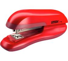 RAPID Bürohefter F16 23810503 rot 20 Blatt Hochglänzender ABS-Kunststoff , für geschlossene Heftung , mit Gummifüsschen , Einschubtiefe 55 mm , bis 20 Blatt 80 g/m² , Klammern 24/6 und 26/6., Verstellbarer Amboss ermögli