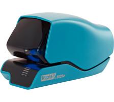 RAPID Elektrohefter 5025e 25095202 blau 25 Blatt Mit einmaligem patentiertem Heftklammerkassettensystem , Heftleistung: 25 Blatt 80 g/m² , 1.500 mal heften mit einer Kassettenladung , mit Flachhefttechnologie, die die Papierstapelhöhe um 30