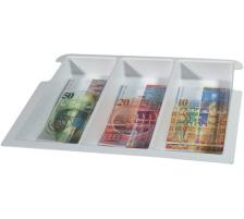 RIEFFEL Geldkassetten Einsatz 7NOTENFAC 28,6×23×4,6cm 3-teilig