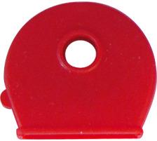 RIEFFEL Schlüsselkappen 8009FS/100 rot 100 Stück Für Schlüssel mit rundem Kopf , Durchmesser: 25 mm., Zubehör Ja, Material Kunststoff, Anzahl Schlüssel 1, Farbe(Filter) rot
